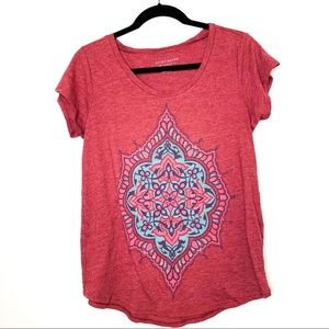 Lucky Brand Boho Graphic Knit T Shirt